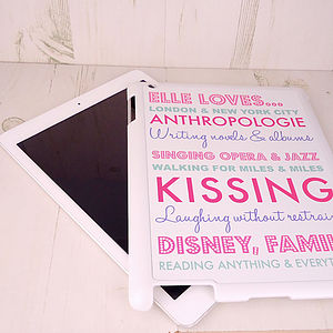 Personalised 'Likes' For IPad Mini - bags & cases