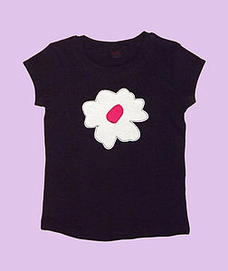 Girl's Giant Flower T Shirt