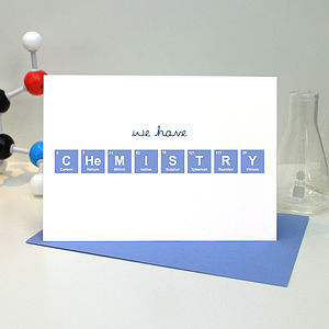 'We Have Chemistry' Periodic Table Card - wedding, engagement & anniversary cards