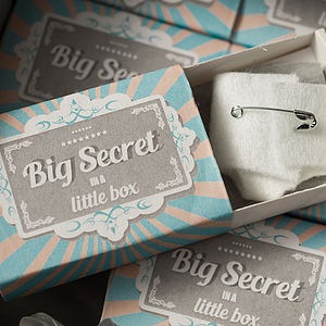 Big Secret In A Little Box, Announcement Set - baby shower gifts