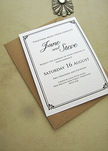Jane Wedding Stationery Set - invitations