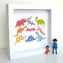 Personalised Baby Boy Dinosaur Artwork