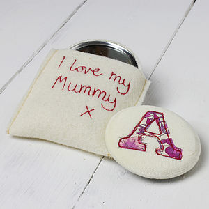 Embroidered Initial Mirror - mother's day gifts