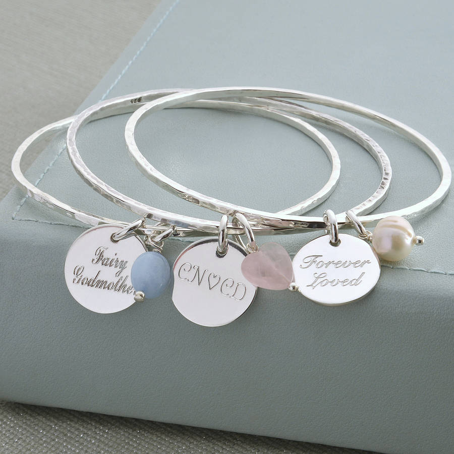 intertwined product bracelet mynamenecklace bangle with bangles hearts jumbo charm