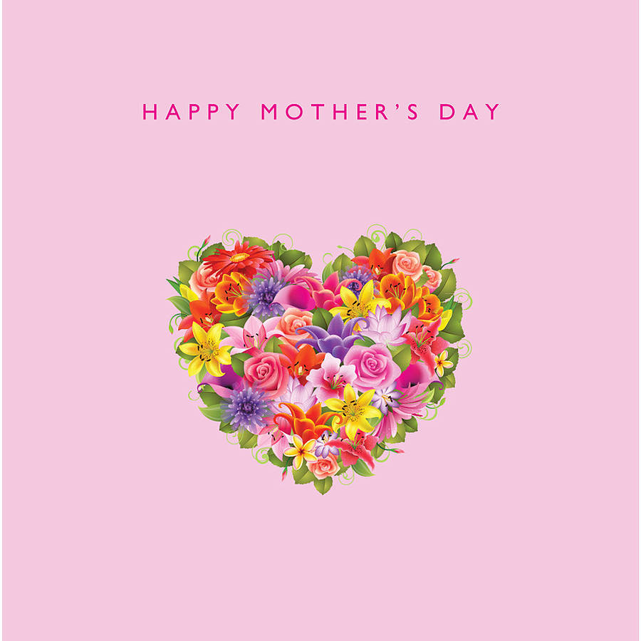 heart flowers mothers day card happy s day flowers card by loveday designs 6702