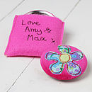 Personalised Flower Handbag Mirror