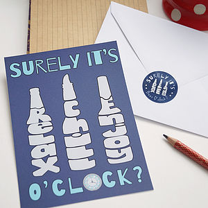 Beer O'clock Oversized Postcard And Sticker