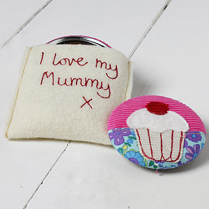 Personalised Cupcake Handbag Mirror - birthday gifts under £55