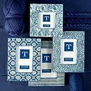 Blue Batik Style Photo Frame