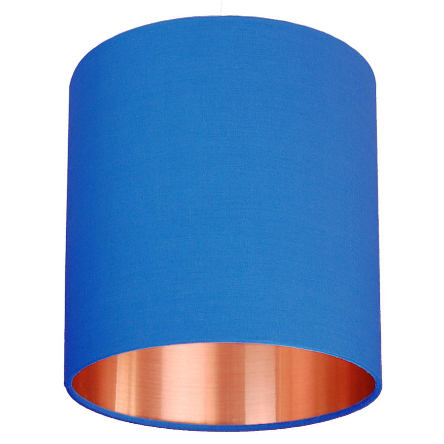 brushed copper lined lamp shade choice of colours by quirk ...