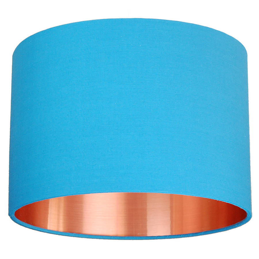 Orange and turquoise lamp shade - Medium