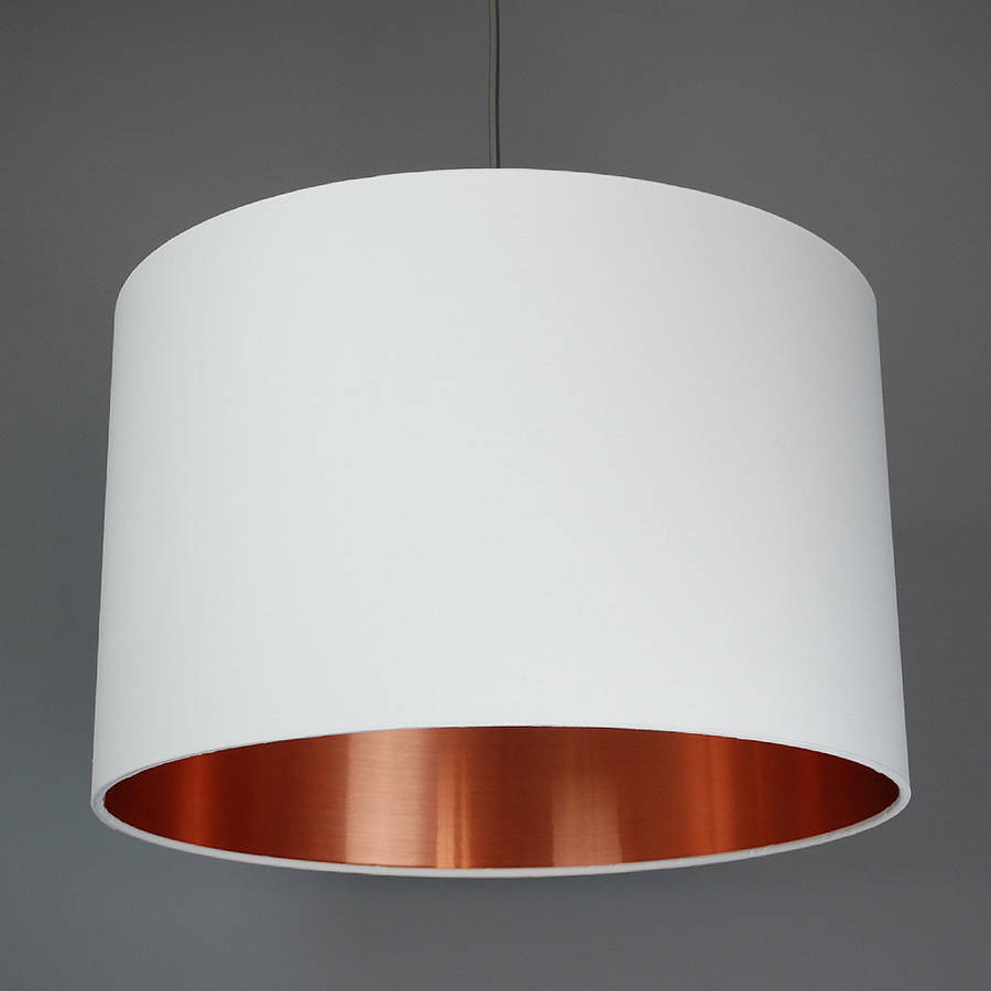 Brushed Copper Lined Lamp Shade Choice Of Colours By Quirk