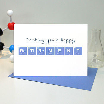Happy Retirement Periodic Table Card