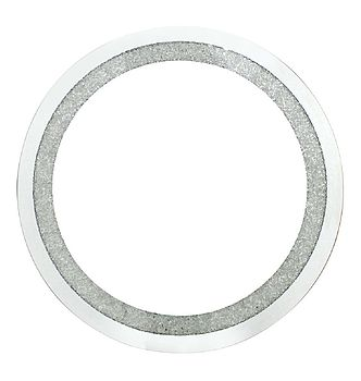 Circular Wall Mirror With Swarovski Crystals