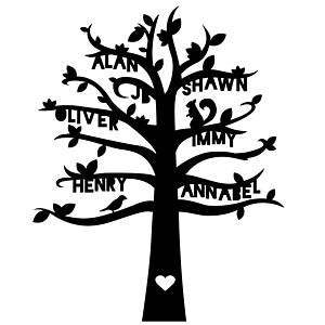 Personalised Family Tree Paper Cut Artwork - art & pictures