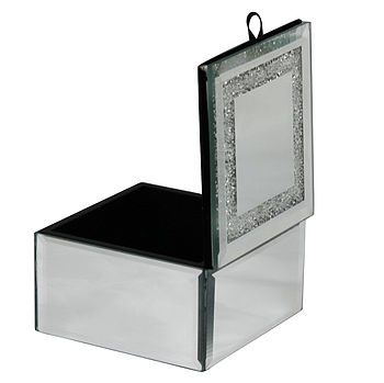 Mirrored Trinket Box Made With Swarovski Crystals