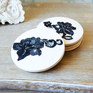 Lace Embedded Coaster - new home gifts