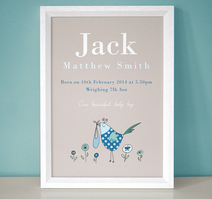 Personalised New Baby Gift For Girl Or Boy