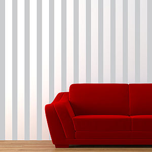 Stripes Made Easy Wall Sticker - living room