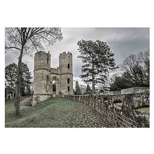 Wentworth Castle And Wall Print - home sale