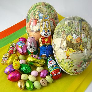 15cm Easter Egg With Foiled Chocolates - easter treats