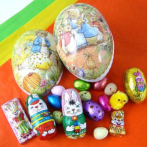 Small Easter Egg With Foiled Chocolates - food & drink gifts
