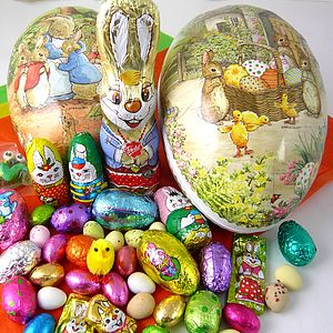 18cm Easter Egg With Foiled Chocolates - children's easter