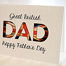 Personalised Great British Fathers Day Card