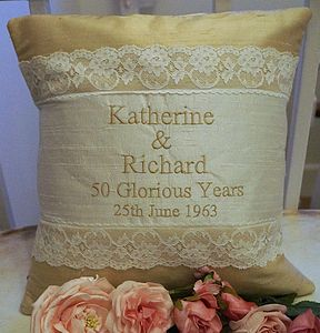 Golden Wedding Cushion - personalised cushions