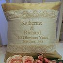 Golden Wedding Cushion
