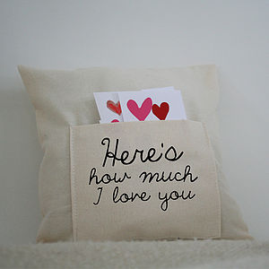 'How Much I Love You' Cushion - cushions