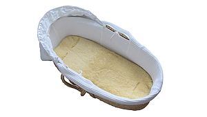 Lambskin Bassinet Or Moses Basket Liner - nature's nursery