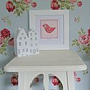Personalised Bright Bird Picture And Frame