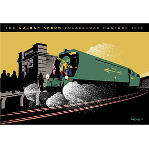 Golden Arrow Orient Express Print - shop by price