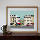 Paris Street Scene Digital Art Print