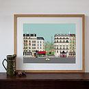 Paris Street Scene Digital Art Print
