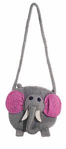 Handmade Felt Elephant Bag