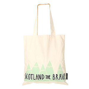 Scotland The Brave Tote Bag - shoulder bags