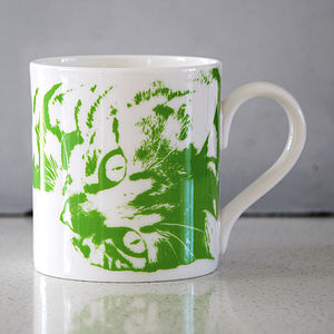 Green Oscar Cat Mug 02
