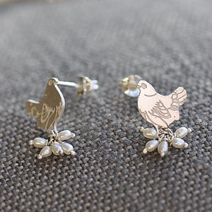 Mother Hen Earrings - earrings