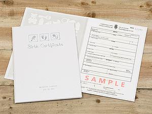 Personalised Birth Certificate Holder