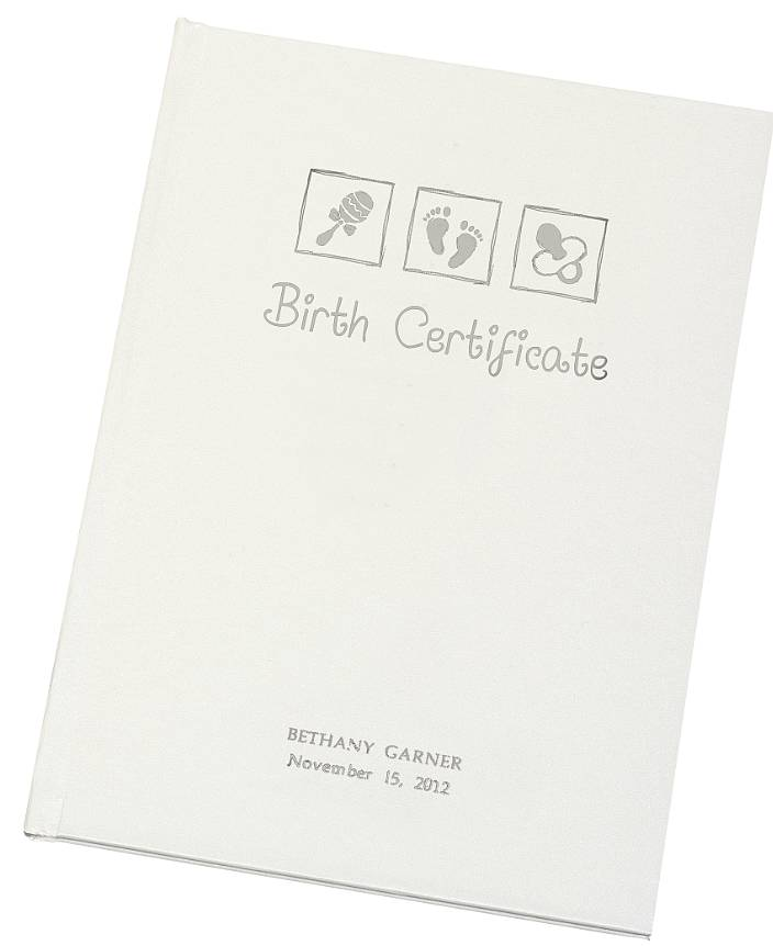 personalised birth certificate holder by the letteroom ...