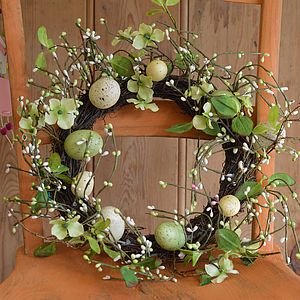 Easter Spring Egg Wreath Decoration - home