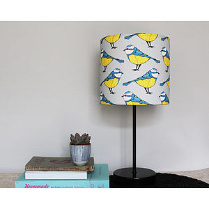 Handmade Blue Tit Lampshade - lighting