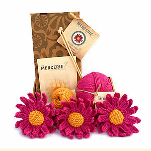 Three Daisies Knitting Kit - interests & hobbies