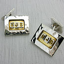 Silver And Gold Personalised Cufflinks