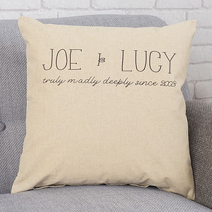 Personalised Cushion Couple Gift - personalised cushions