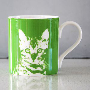 Green Oscar Cat Mug 01