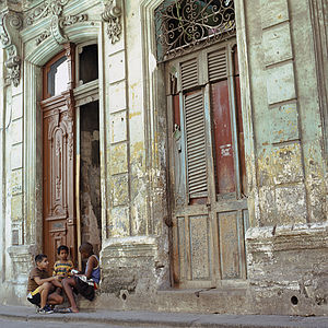 Street Children, Old Havana, Cuba, Signed Art Print