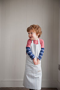 Ledbury Blue Grey Organic Childrens Apron